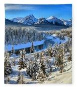 Bow Valley Winter View Fleece Blanket