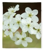 Bradford Pear Flower Fleece Blanket