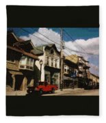 Brady Street Scene Fleece Blanket