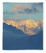 Breathtaking Landscape Of The Dolomites Mountains In Italy  Fleece Blanket