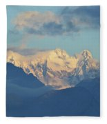 Breathtaking Scenic View Of The Alps In Italy  Fleece Blanket