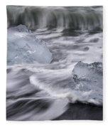 Brethamerkursandur Iceberg Beach Iceland 2588 Fleece Blanket