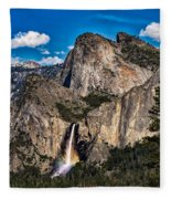 Bridalveil Falls Rainbow #2 Fleece Blanket