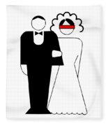 Bride And Groom Fleece Blanket