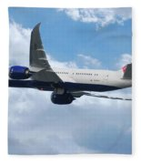 British Airways Boeing 787 Dreamliner Fleece Blanket