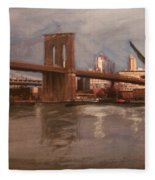 Brooklyn Bridge Fleece Blanket