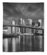 Brooklyn Bridge From Dumbo Fleece Blanket