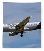 Brussels Airlines Airbus A319 Fleece Blanket