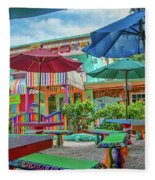 Bubble Room Restaurant - Captiva Island, Florida Fleece Blanket