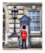 Buckingham Palace Queens Guard Art Fleece Blanket