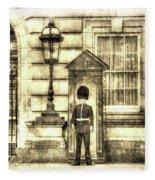 Buckingham Palace Queens Guard Vintage Fleece Blanket