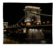 Budapest At Night. Fleece Blanket