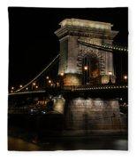 Budapest At Night. Fleece Blanket