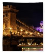 Budapest City By Night Fleece Blanket