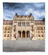 Budapest Parliament Fleece Blanket