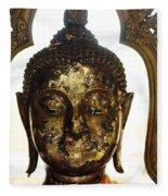 Buddha Sculpture Fleece Blanket