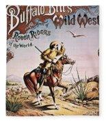 Buffalo Bill: Poster, 1893 Fleece Blanket