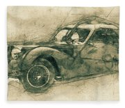 Bugatti Type 57 - Atlantic 3 - 1934 - Automotive Art - Car Posters Fleece Blanket