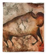 Bull A La Altamira Fleece Blanket