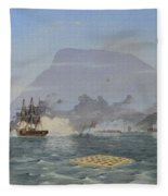 Bulldog Shelling The Forts Fleece Blanket