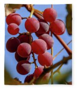 Bunch Of Grapes Fleece Blanket