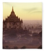 Burma Landscape Fleece Blanket