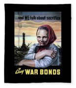 Buy War Bonds Fleece Blanket