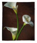 Cala Lilies Fleece Blanket