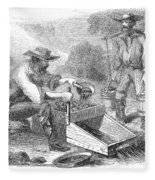 California Gold Rush, 1860 Fleece Blanket