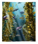 California Kelp Forest Fleece Blanket