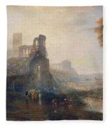 Caligula's Palace And Bridge Fleece Blanket