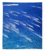 Canoe Race Fleece Blanket