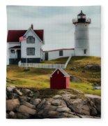 Cape Neddick Lighthouse 4 Fleece Blanket