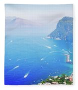 Capri Island, Italy Fleece Blanket