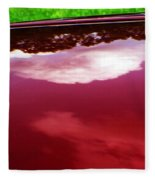 Car Reflection 4 Fleece Blanket