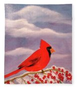 Cardinal Christmas Fleece Blanket