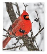 Cardinal Red Fleece Blanket
