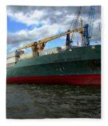 Cargo Ship Fleece Blanket