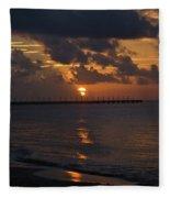 Caribbean Early Sunrise Fleece Blanket