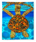 Caribbean Hawksbill Sea Turtle Fleece Blanket