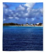 Caribbean Sea And Beach Fleece Blanket
