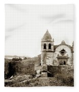 Carmel Mission By A.j. Perkins 1880 Fleece Blanket