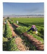 Carrot Harvest Fleece Blanket