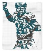 Carson Wentz Philadelphia Eagles Pixel Art 5 Fleece Blanket