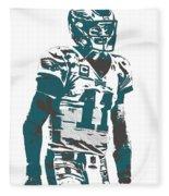 Carson Wentz Philadelphia Eagles Pixel Art 6 Fleece Blanket