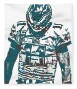 Carson Wentz Philadelphia Eagles Pixel Art 7 Fleece Blanket