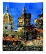 Cartagena Colombia Fleece Blanket
