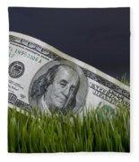 Cash In The Grass. Fleece Blanket