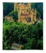 Castle Hohenschwangau Fleece Blanket