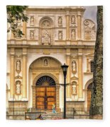 Catedral Antigua Guatemala - Guatemala Vii Fleece Blanket